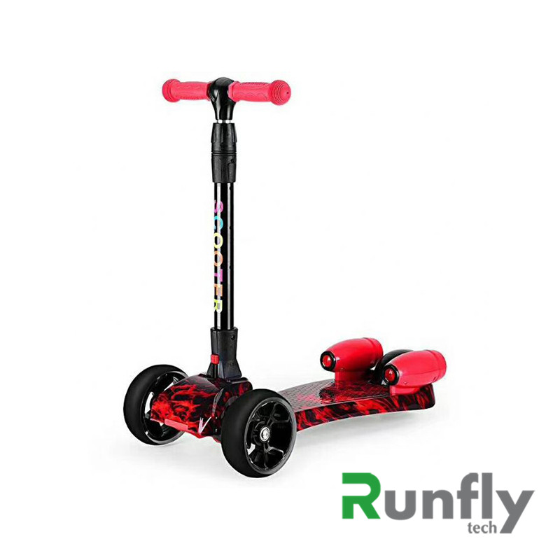 3 wheels kis fire scooters with smoking